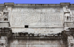 Close-up on the Arch of Constantine Stock Photos