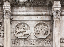 Close-up on the Arch of Constantine Stock Photo