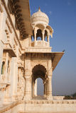 Close up of arches and pillars at Jaswant Thada Kings monuments Royalty Free Stock Photography
