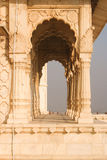 Close up of arches and pillars at Jaswant Thada Kings monuments Stock Photography