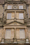 Close up of the architectural detail of the historic building in the Lyme Park, England. Royalty Free Stock Photo