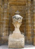 Stone Carved Urn - Architectural Detail of Cathedral stock images