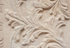 Close-up of architectural relief pattern plants Stock Photography