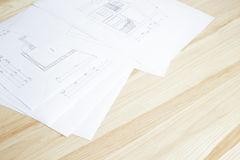 Close-up of architecture blueprint. Stock Photography