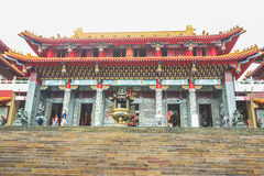 Close up of Architecture in Wenwu Temple located at Sun Moon Lak Stock Photography