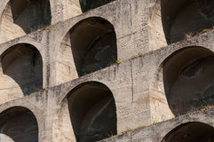 Close up of archway pattern in stone Royalty Free Stock Image