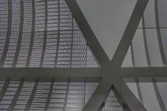 Close up of the Arganzuela Footbridge royalty free stock photo