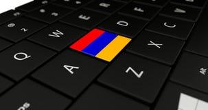 Close up of Armenia button. stock photo