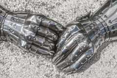 Close-up of armored gloves Stock Image