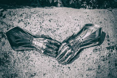 Close-up of armored gloves Royalty Free Stock Photography