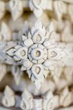 Close up of art of stucco wall in Thai temple Stock Photography