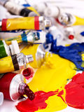 Close up of art supplies. Stock Images