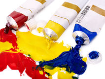 Close up of art supplies. Royalty Free Stock Images