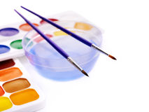 Close up of art supplies. Stock Image