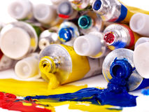 Close up of art supplies. Stock Photography