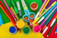 Art supplies for creative work Royalty Free Stock Images