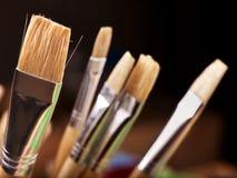 Close up of art utensils. Stock Image