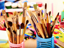 Close up of art utensils. Stock Images