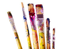 Close up of art utensils. Royalty Free Stock Images