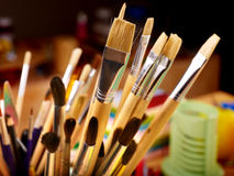 Close up of art utensils. royalty free stock photo