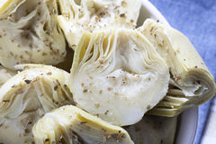 Close Up Artichoke Heart Appetizer Royalty Free Stock Image