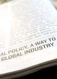 Close up of article. Close up of new paper article Stock Images