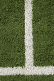 Artificial Lawn & White Stripes Stock Photography