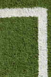 Artificial Lawn & White Stripe Stock Photography