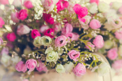 Close up Artificial Flowers Stock Photo