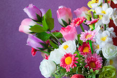Close up of artificial flowers. Stock Images