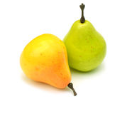 Close up of artificial pears Royalty Free Stock Photography