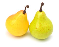 Close up of artificial pears Stock Photo