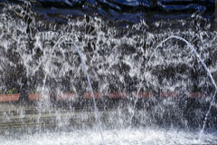 Close up of Artificial waterfall Stock Images