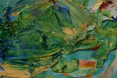 Artists palette. Close up of artists palette, oil paints Stock Images