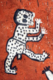 Close up of artwork on a Dogon building Royalty Free Stock Images