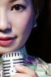 Close-up asiático da beleza imagem de stock royalty free