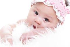 Close up Asian baby girl Royalty Free Stock Image