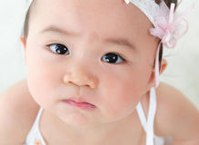 Close up Asian baby girl Stock Photography