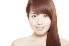Close up of asian beauty Royalty Free Stock Photo
