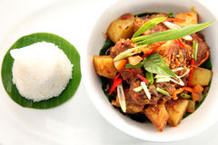 Close up of asian food Royalty Free Stock Photo