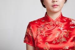 Close up of Asian girl in chinese cheongsam dress Stock Photo