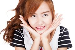 Close up of Asian girl smile Royalty Free Stock Photography