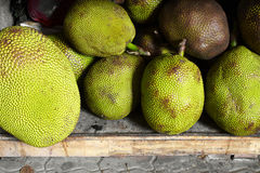Close up asian jack fruit. In market Stock Photo