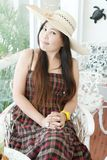 Close up Asian lady. Royalty Free Stock Photos