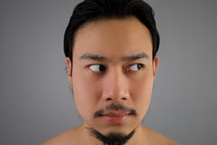 Close up of Asian man. Royalty Free Stock Images