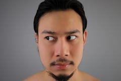 Close up of Asian man. Stock Photo