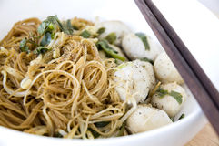 Close up asian noodle Royalty Free Stock Image