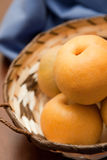Close up asian pears Stock Photo
