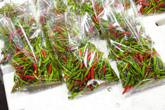 Close up asian small chili Stock Images