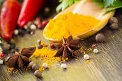 Close-up of Asian spices Royalty Free Stock Photos